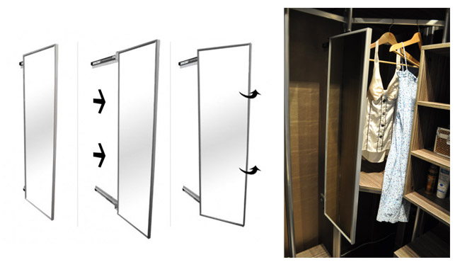 Slide Out Pull Out Mirror For Wardrobe